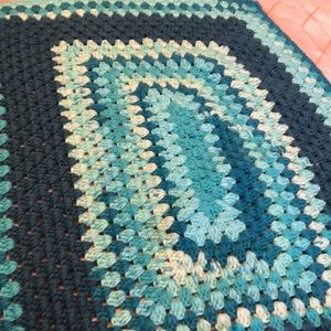 Mint and turquoise baby blanket
